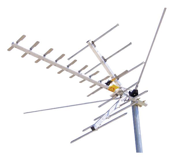 Channel Master - Digital Advantage HD/UHF/VHF Outdoor Antenna - Silver