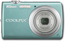 Nikon - Coolpix 10.0-Megapixel Digital Camera - Aqua Green - S220