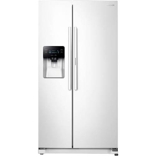 Samsung - 24.7 Cu. Ft. Side-by-Side Refrigerator - White