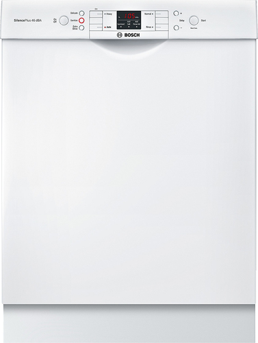 Bosch - 300 Series 24 Tall Tub Built-In Dishwasher with Stainless Steel Tub - White