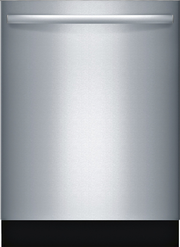 Bosch - 800 Series 24 Hidden Control Tall Tub Built-In Dishwasher with Stainless-Steel Tub - Stainless Steel (Silver)