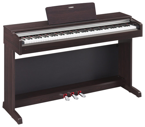 Yamaha - Arius Full-Size Keyboard with 88 Piano-Style Touch-Sensitive Weighted Keys - Brown