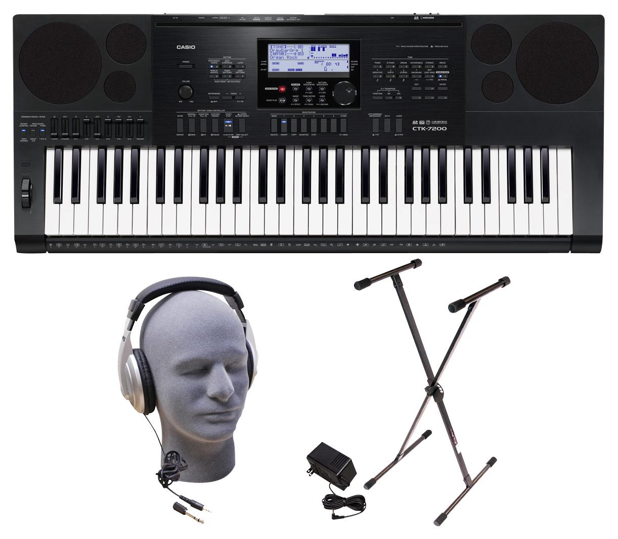 Casio - Keyboard with 61 Piano-Style Keys - Black
