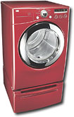 LG 7.3 Cu. Ft. 9-Cycle Super Capacity Gas Dryer - Wild Cherry Red