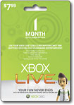 Microsoft Xbox Live 1-Month Gold Subscription Card