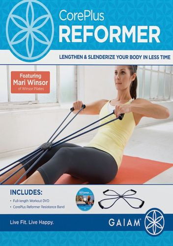 Gaiam - CorePlus Reformer Pilates Resistance Band with DVD