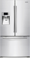 Samsung - 22.5 Cu. Ft. Counter-Depth French Door Refrigerator with Thru-the-Door Ice and Water - White
