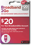 Virgin Mobile Broadband2Go $20 Top-Up Wireless Card