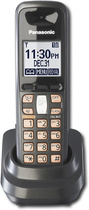 Panasonic - DECT 6.0 Digital Cordless Expansion Handset for KX-TG6400 Series Phone Systems - Black