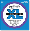 D'Addario - EXL115 Jazz/Blues Nickel-Wound Electric Guitar Strings