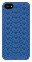 Odoyo - Sharkskin Protective Hard Case for Apple iPhone 5 - Navy Blue