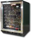 Vinotemp 58 Bottle Wine Cellar   Black/Stainless Steel