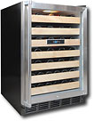 Vinotemp 50 Bottle Wine Cellar   Black/Stainless Steel