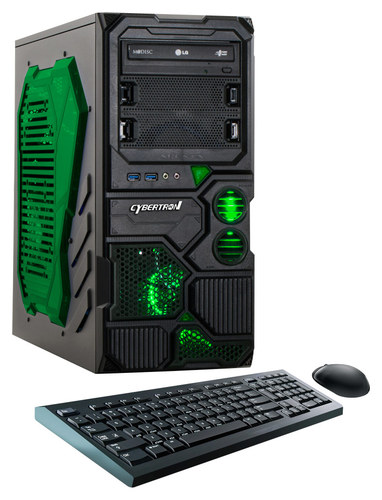 CybertronPC - Borg-DS9 Desktop - AMD FX-Series - 8GB Memory - 1TB Hard Drive - Black/Green