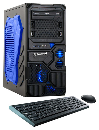 CybertronPC - Borg-709 Desktop - AMD FX-Series - 8GB Memory - 1TB Hard Drive - Black/Blue