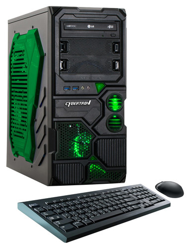 CybertronPC - Borg-709 Desktop - AMD FX-Series - 8GB Memory - 1TB Hard Drive - Black/Green