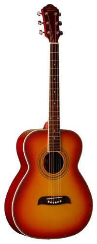 Oscar Schmidt - 6-String Folk Acoustic Guitar - Cherry Sunburst