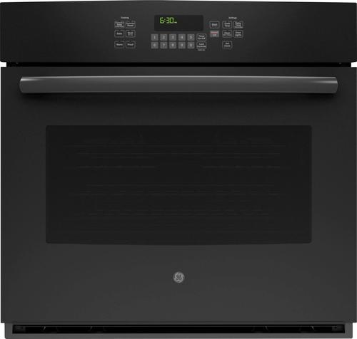 GE - 30 Built-In Single Electric Convection Wall Oven - Black