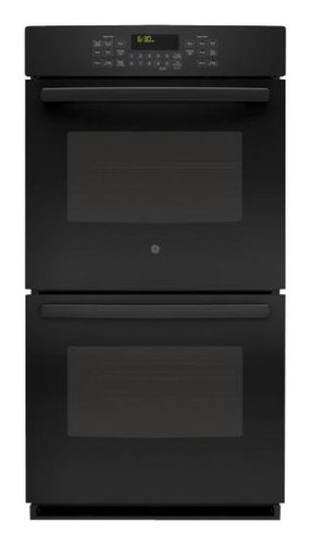 GE - 27 Built-In Double Electric Convection Wall Oven - Black