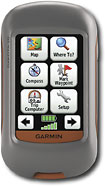 "Garmin - 2.6"" Handheld GPS Navigator - Red/Gray"