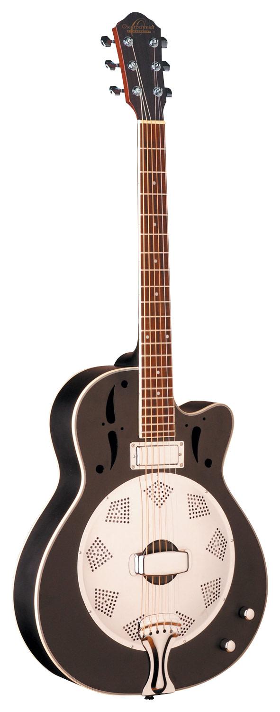 Oscar Schmidt - 6-String Full-Size Acoustic/Electric Guitar - Black