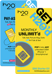 H2O Wireless Unlimited - Prepaid Wireless SIM Card