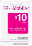T-Mobile Prepaid - $10 Wireless Airtime Refill Card