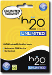 H2O Wireless Unlimited - $4999 Prepaid Wireless Airtime Card