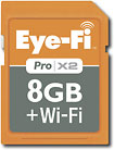 Eye-Fi - Wireless PRO X2 8GB Secure Digital High Capacity (SDHC) Memory Card