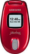Jitterbug Samsung No-Contract Mobile Phone - Red