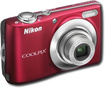 Nikon - Coolpix 12 Megapixel Compact Camera - Red