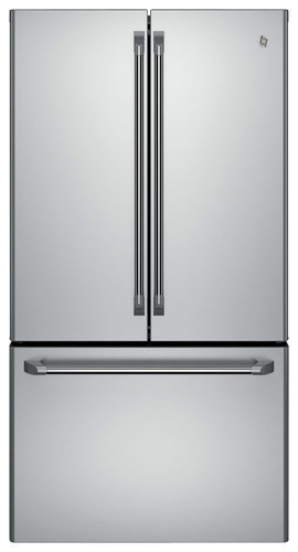 GE - Café Series 23.1 Cu. Ft. Frost-Free Counter-Depth French Door Refrigerator - Stainless Steel (Silver)