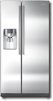 Samsung - 25.5 Cu. Ft. Side-by-Side Refrigerator with Thru-the-Door Ice and Water - Stainless-Steel