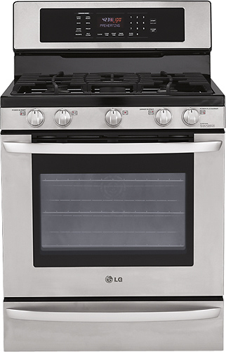 LG - 30 Self-Cleaning Freestanding Gas Convection Range - Stainless Steel (Silver)