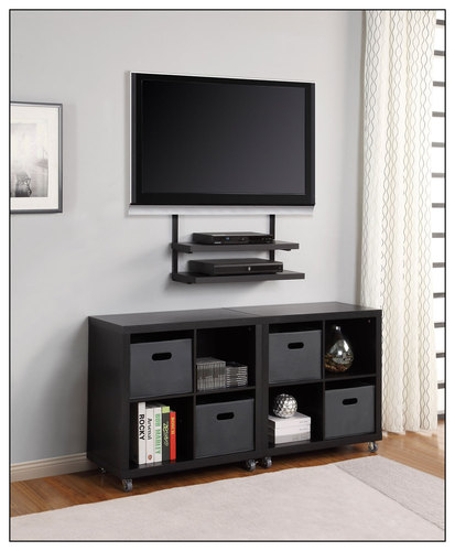 Altra Furniture - AltraMount Wall Mount for Most 32 - 50 Flat-Panel TVs - Black
