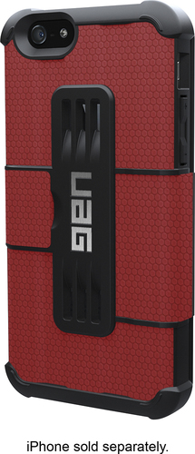 Urban Armor Gear - Folio Case for Apple® iPhone® 6 and 6s - Red/Black