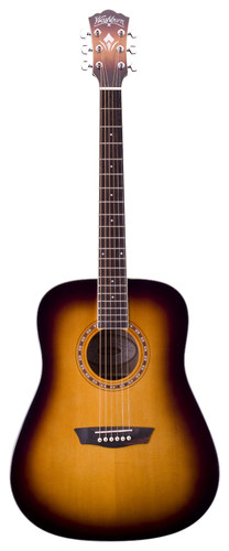 Washburn - WD7S Series 6-String Full-Size Acoustic Guitar - Tobacco Sunburst