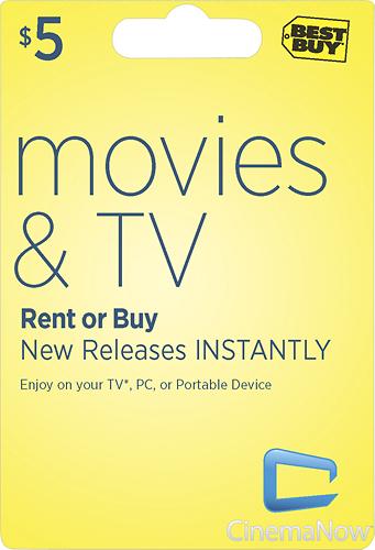 CinemaNow - $5 Movie Download Card