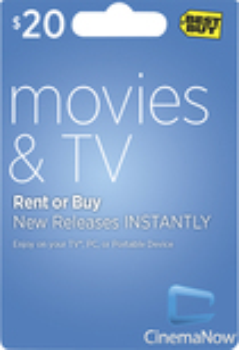 CinemaNow - $20 Movie Download Card