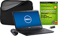 Dell I15RV-6190 15.6 inch LED Laptop Computer  + Internet Security Software + Sleeve + Mouse + Flash Drive Package