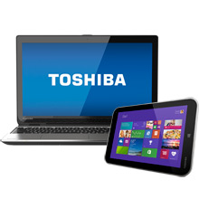 "Toshiba Satellite E55T-A5320 15.6"" Laptop Bundle"