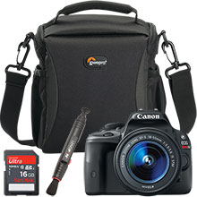 Canon EOS Rebel SL1 Digital SLR Camera with 18-55mm IS STM Lens, Bag, Lens Cleaning Pen & 16GB Memory Card