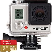 GoPro Hero3+ Black Edition Camera & Free 16GB Memory Card