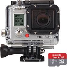 GoPro HD Hero3: White Edition Action Camera & Free 16GB Memory Card