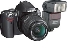 Nikon D40 6.1MP Digital SLR Camera and Speedlight Flash :  best buy nikon flash camera