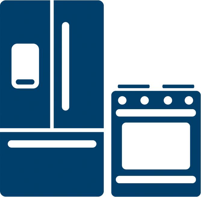 Refrigerator and range icon