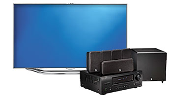 TV and home theater system