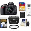 Nikon - D3100 Digital Slr Camera+18-55mm G Vr Dx Af-s Zoom Lens W/16gb Card+case+acc Kit