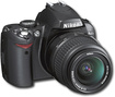 Nikon - 6.1 Megapixel Digital Slr Camera (body With Lens Kit) - 18 Mm-55 Mm Lens