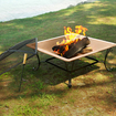 Asia Direct - Florence 33-inch Square Copper Finish Fire Pit